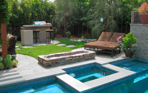 Contemporary Studio City, Los Angeles Landscape Design & Installation by Gregory Davs & Associates